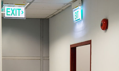 exit sign in school