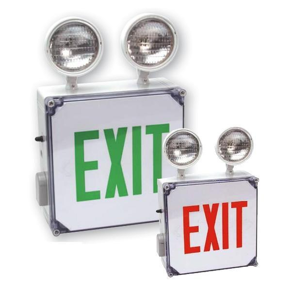 CWLXTE Wet Location Combo Exit Sign