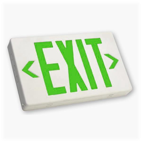 EZXTEU 2 G W EM Green Exit Sign
