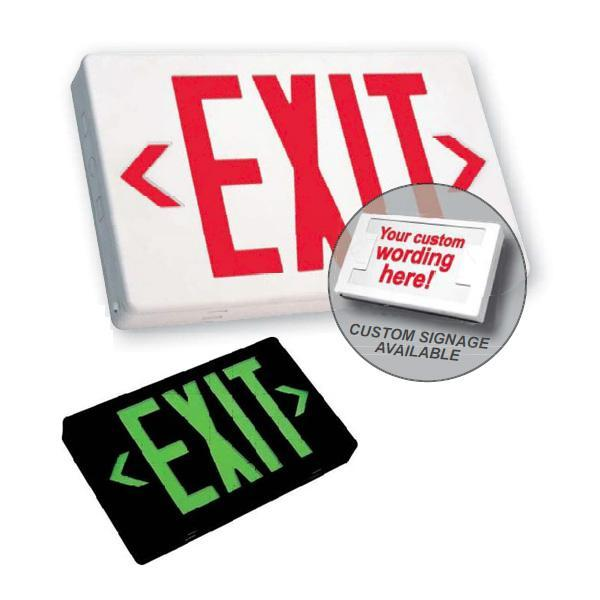 EZXTEU-2-R-W-EM Red Exit Sign
