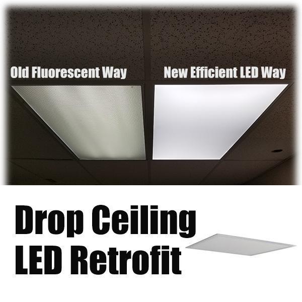 Led Fluorescent Drop Ceiling Retrofit Emergency Lighting Bow Lighting