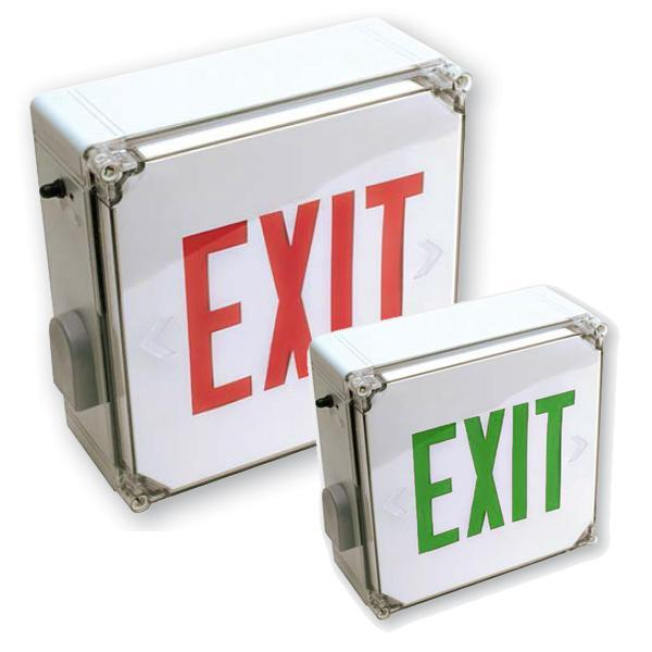WLXTE Wet Location Exit Sign