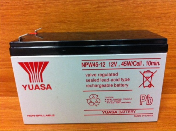 NPW45-12 12V , 45W/CELL , 10MIN. | Yuasa - Emergency Lighting