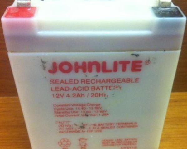 Johnlite 12v 4 2ah 20hr Lantern Battery Emergency