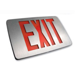 Red Letter Exit Signs
