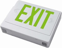 LED, Green Letters, White Housing, Battery Back-up, SGL/DBL Face Univ., Remote Capability, 120/277V
