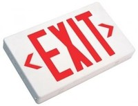 WHITE EXIT SIGN w/ RED LETTER OR GREEN LETTERS & AC ONLY