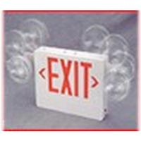 COMBINATION EXIT SIGN / EMERGENCY LIGHT w/ BATTERY BACKUP