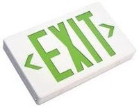 Exit Sign Thermoplastic