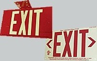 HPL Series, Photoluminescent Exit Signs, Single Face Unframed Green Reflective Letters
