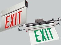 LED-XFO/RXFO Series, Recessed, Edge-Lite LED Exit Signs, Single Face, Wall Mount